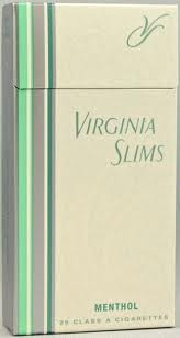 VIRG SLIMS MENTHOL SILVER PACK BOX