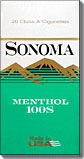 SONOMA MENTHOL DARK GREEN BOX 100