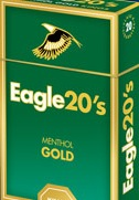 EAGLE 20'S MENTHOL GOLD BOX KS