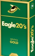 EAGLE 20'S MENTHOL GOLD BOX 100