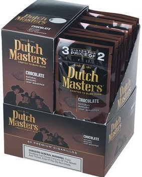 DUTCH MASTER CIG CHOCOLATE 3/2 PK