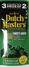 DUTCH MASTER CIG SWEET GREEN 3/2 PK
