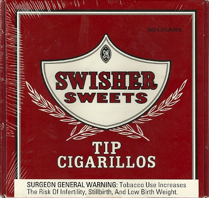 SWISHER SWEET TIP CIG BOX