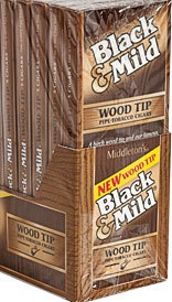 BLACK & MILD WOOD TIP 10/5 PACK