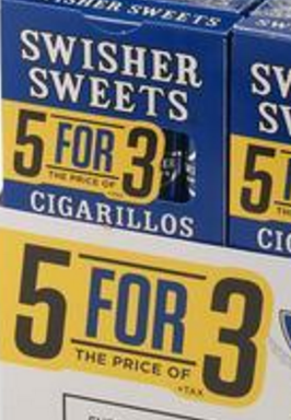SWISHER SWEET CIGARILLO 5FOR3 BLBRY