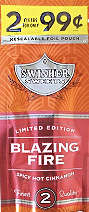 SWISHER SWEET CIG BLAZING FIRE 2/.99