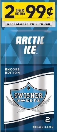 SWISHER SWEET CIG ARTIC ICE 2/.99