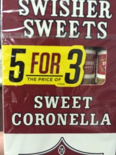 SWISHER SWEET CORONELLA 5FOR3