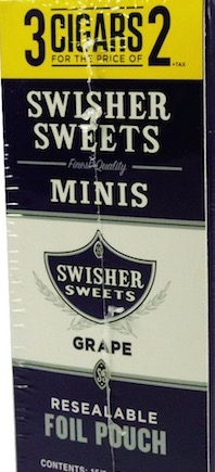 SWISHER SWEET CIG MINIS GRAPE 3 FOR 2