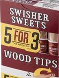 SWISHER SWEET WOOD TIP CIG 10/5 PK