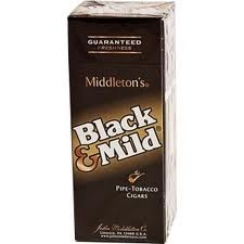 BLACK & MILD UPRIGHT BOX/25
