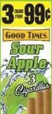 GOOD TIMES CIG SOUR APPLE 3/.99
