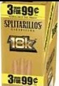 SPLITARILLOS 18K GOLD PACK /15/3/99