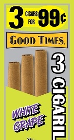 GOOD TIMES CIG WHITE GRAPE 15/3/.99