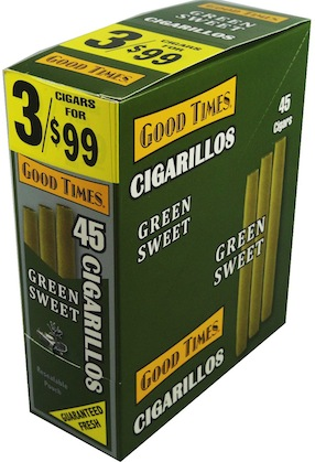 GOOD TIMES CIG GREEN SWEET 3/.99