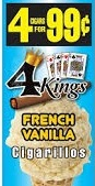 4 KINGS FRENCH VANILLA 15/4/.99