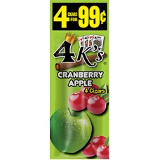 4 KINGS CIG CRANBERRY APPLE 4/.99