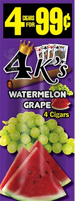 4 KINGS CIG WATERMELON GRAPE 4/.99