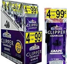 CLIPPER CIGARILOS GRAPE 4/0.99