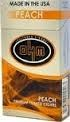 OHM FILTERED CIGARS PEACH BOX 100