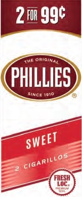 PHILLIES CIG SWEET 2/.99