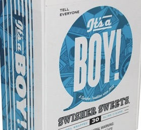 SWISHER SWEET SLIM ITS A BOY BOX
