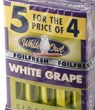 WHITE OWL CIG WHITE GRAPE 10 5/4PK
