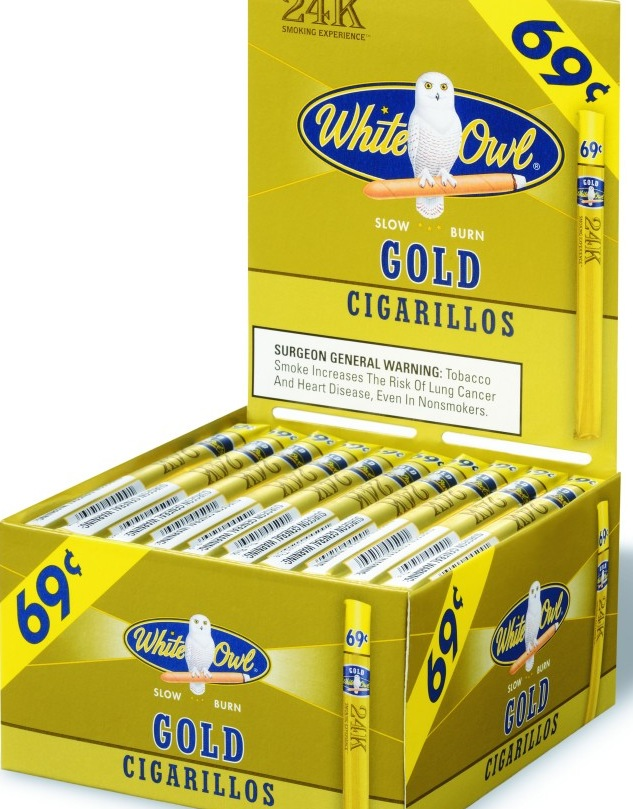 WHITE OWL CIGARILLOS GOLD BOX 60 .69