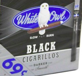 WHITE OWL CIGARILLOS FF BLACK .69 BOX/60