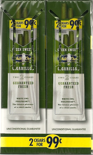 WHITE OWL CIGARILLO FF GREEN SWT 99