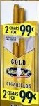 WHITE OWL CIGARILLOS GOLD 2/.99 PCH