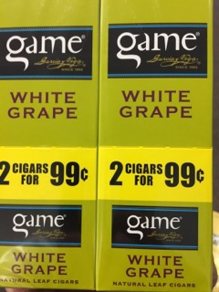 GAME CIG WHITE GRAPE 2/.99