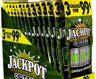 JACKPOT CIGARILLO GREEN SWEET 3/.99