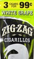 ZIG ZAG CIGARILLOS WHITE GRAPE 3/.99