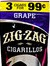 ZIG ZAG CIGARILLOS GRAPE 3/.99