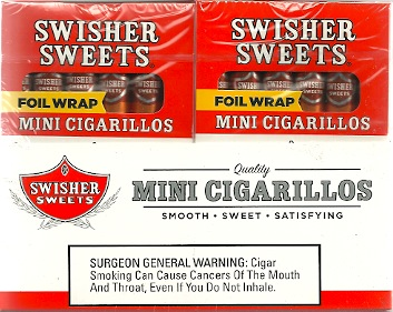 SWISHER CIGARILLO PEACH 20/5 PK