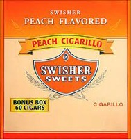 SWISHER CIGARILLO PEACH BOX/60