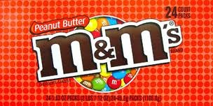 M & M PEANUT BUTTER BOX/24