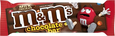 M & M COCOLATE BAR BOX/24