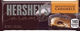 HERSHEY MILK CHOCOLATE CARAMELS BOX/12
