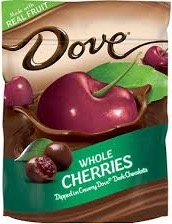 DOVE WHOLE CHERRIES BOX/8/6 OZ