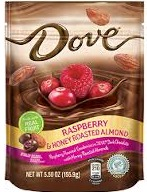 DOVE RASBERRY/HONEY ROASTED ALMOND BOX/8 5.5 OZ