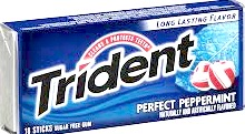 TRIDENT PERFECT PEPPERMINT BOX/12