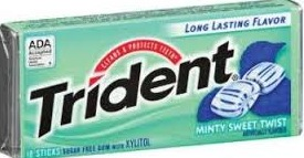 TRIDENT MINTY SWEET VALUPAK BOX/12