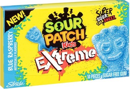 SOUR PATCH KIDS EXTREME GUM BLUE