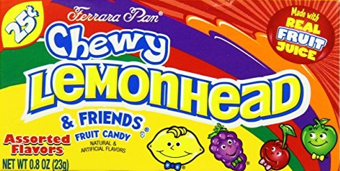 LEMON HEAD CHEWY FRIENDS BOX/24