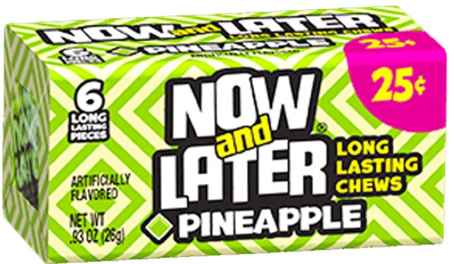 NOW OR LATER SOFT PINEAPPLE BOX .25