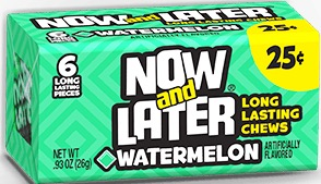 NOW OR LATER WATERMELON BOX/24/.25