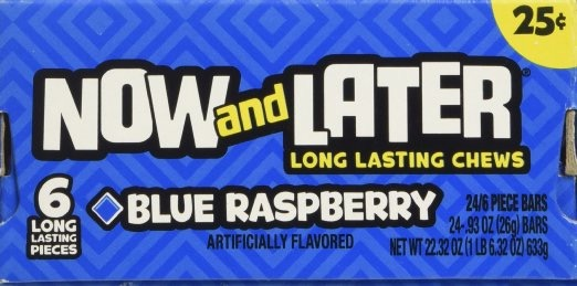 NOW OR LATER BLUE RASPBERRY 24/.25