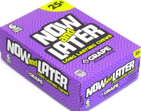 NOW OR LATER GRAPE BOX/24 /.25